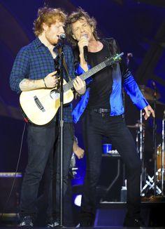 Jagger y Sheeran cantando juntos: