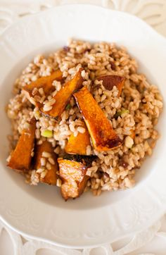 Scandi Home: Pearl Barley Salad with Caramelised Balsamic Roast Pumpkin, Barberries and Quince