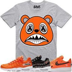 08b28800c44a Baws T-Shirt ORANGE BAWS Grey Sneaker Tees Shirt - Nike Air Just Do It