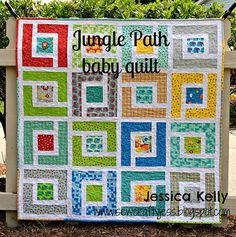 Jungle Path Baby QuiltTutorial on the Moda Bake Shop. http://www.modabakeshop.comhttp://www.modabakeshop.com/2012/06/jungle-path-baby-quilt.html