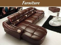 Ways to Make Your #Home A Better Place Magic designers snatch few old things like #cushions; changes colour, replace certain things and challenge your house to be a wonderful place. Leather Furniture Repair, Leather Repair, Sofa Furniture, Modern Furniture, Leather Chaise Sofa, Modern Leather Sofa, Modern Sofa, Leather Interior, Muebles Living