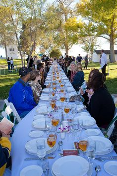 Guests make their way to the dinner table at Tule Springs Floyd Lamb Park Las Vegas, NV