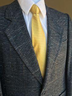 PIERRE CARDIN MENS Blue Tweed  WOOL 2-BUTTON SUIT JACKET BLAZER SPORT COAT 36S…