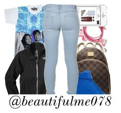 """~BeautifulMe078"" by g-oddesses ❤ liked on Polyvore featuring The North Face, MICHAEL Michael Kors, NIKE and Marc by Marc Jacobs"