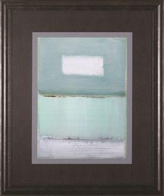 'Azure Blue I' by Caroline Gold Framed Painting Print