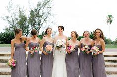 dusky lavender bridesmaid gowns | Elaine Palladino #wedding