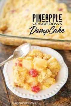 Cake Mix Desserts, No Cook Desserts, Sugar Free Desserts, Easy Desserts, Delicious Desserts, Homemade Desserts, Yummy Recipes, Caramel Apple Dump Cake, Apple Dump Cakes