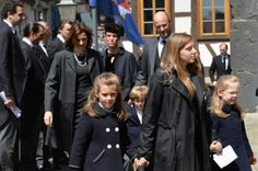 Members of the family of Hesse at the funeral of Moritz, Landgraf von Hesse