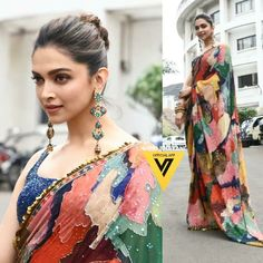 Designer Anarkali Dresses, Designer Sarees, Anushka Sharma And Virat, Heena Khan, Deepika Padukone Style, Half Saree Designs, Saree Dress, Bollywood Stars, Red Carpet Looks