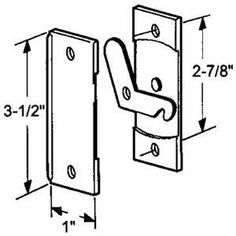 Prime Line Prod 12138 Sliding Screen Door Latch And Pull By Prime