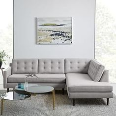 Crosby Mid-Century 4-Piece Chaise Sectional
