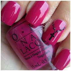 Rosary nails by newlypolished Get Nails, Fancy Nails, Love Nails, Pretty Nails, Colorful Nail Designs, Cute Nail Designs, Cross Nail Designs, Rosary Nails, Cross Nails