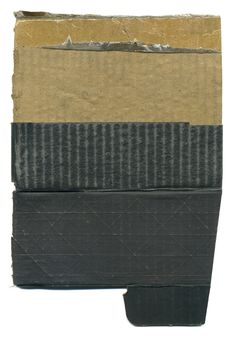 Babette Herschberger - Tidbit #93 Collage, found and distressed cardboard, packing tape 9.25 x 6.375 inches Painting & Drawing, Contemporary Art, Card Holder, Creative, Tape, Packing, Top Soil, Collages, Boxes