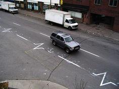 Peter Gibson - heartbeat road markings
