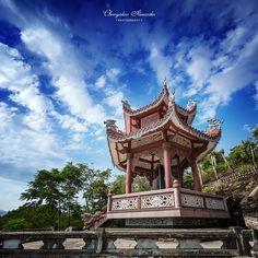 Ancient asian bell tower, Vietnam