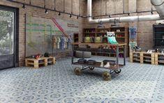 carreaux de ciment, loft studio industriel