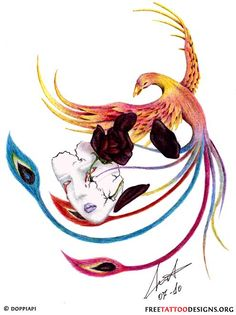 Only the best free Phoenix Tattoos For Women Printable tattoo's you can find online! Phoenix Tattoos For Women Printable tattoo's to print off and take to your tattoo artist. Phoenix Tattoo Design, Phoenix Tattoos, Phoenix Bird, Bild Tattoos, Bird Theme, Bird Crafts, Best Tattoo Designs, Bird Illustration, Bird Drawings