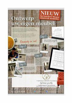 Ontwerp uw eigen meubel!  www.verschoorwonen.nl/maatwerk