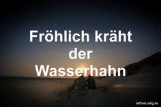 Fröhlich kräht der Wasserhahn ... gefunden auf https://www.istdaslustig.de/spruch/471 #lustig #sprüche #fun #spass