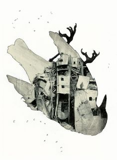 Illustration for a short story by Etgar Keret (Israel) for the mexican Magazin Lapeste, 2013 (Simon Prades) A Level Art, Ap Art, Faber Castell, Bird Art, Moleskine, Art Inspo, Printmaking, Cover Art, Concept Art