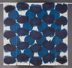 Untitled Noren, 2009.  Made from home grown indigo.