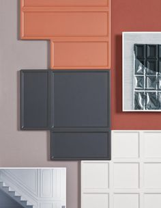 ONZA Tiles by MUT Design. Minimalist, ceramic tiles inspired by Chocolate bars.