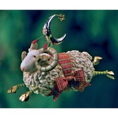 Patience Brewster |  Joyful Flying Ram Ornament