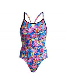 Women's diamond back one-piece swimsuit - Club tropo Chlorine Resistant Swimwear, Off The Wall, Looking Gorgeous, One Piece Swimsuit, Swimsuits, Club, Diamond, Collection, Women