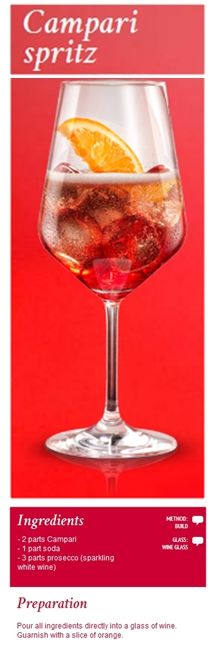 #Campari #Spritz. A cocktail full of taste enhanced by the sparkling aromatic note of Prosecco.