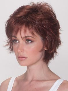 Wigsis provides variety of Good Auburn Layered Straight Short Wigs with good customer service and fast shipment, including short curly wigs,short brown wig for customer. Short Curly Wigs, Curly Hair Cuts, Long Curly Hair, Curly Hair Styles, Natural Hair Styles, Short Pixie, Pixie Cuts, Edgy Pixie, Updo Styles