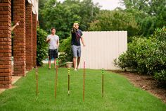 Using just a few supplies from your local Home Depot, build a fun backyard activity perfect for football-watching parties.
