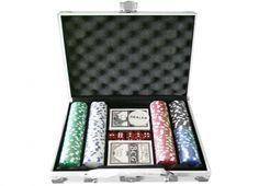 VALIGETTA 200 FICHES ALLUMINIO. Valigetta 24 ore in alluminio con all'interno 2 mazzi di carte da poker e 200 fiches