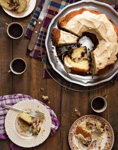 Sour Cream Coffee Cake With Brown Butter Glaze