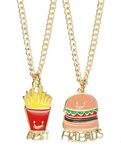 Food BFF Necklaces | 38 Friendship Necklaces That Will Make You Glad You Have A…