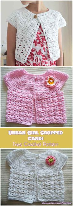Urban Girl Cropped Cardi Free Crochet Pattern | Your Crochet #freecrochetpatterns #crochetcardigan
