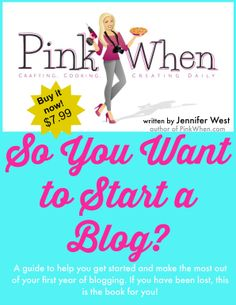 An AMAZING book with a TON of information!! Perfect for the NEW blogger, or those who have been wanting to start a blog.