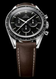 """The OMEGA Speedmaster is one of OMEGA's most iconic timepieces. The Moonwatch """"First Omega in Space"""" was inspired by the watch worn by astronaut Wally Shirra in 1962 as he orbited the earth during the """"Sigma mission. Swiss Watches For Men, Best Watches For Men, Cool Watches, Men's Watches, Dream Watches, Sport Watches, Omega Speedmaster, Omega Seamaster Ladies, New Omega Watch"""