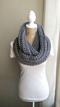 Super Chunky Crochet Scarf Crochet Warm Fall Scarf by TheSnugglery