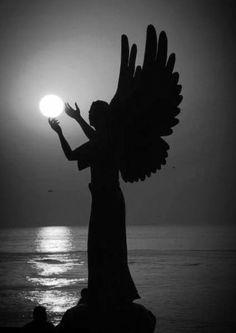 silhouette gardening angel - Google Search