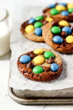Monster Brownie Cookies — Butternut Lane Nutter Butter Cookies, Butter Chocolate Chip Cookies, Semi Sweet Chocolate Chips, Cookie Dough Brownies, Fudgy Brownies, Brownie Cookies, Monster Cookie Dough, Oatmeal Cream Pies, Brookies