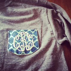 Monogrammed shirt with my initials on it:)  Really, really, really want a shirt with a monogram pocket!