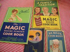 Five Vintage Baking Powder Advertising Cook Booklets Vintage Baking, Vintage Kitchen, Magic Cook, Vintage Cookbooks, Oldies But Goodies, Vintage Recipes, Family Traditions, Housekeeping, Booklet