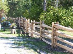 "Cedar split rail fence ""stack"" design, what we want to do down the side of our yard"
