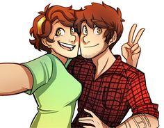 (Older) Pines-Twin Selfie! (by mapleleauf)
