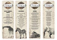 safari wedding stationery