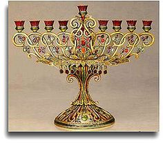 A beautiful antique menorah