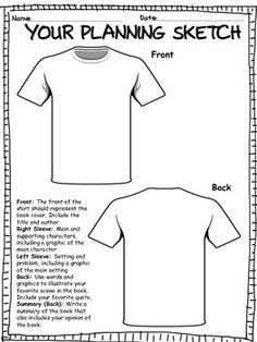 TSHIRT BOOK REPORT PROJECT w/ RUBRIC***BEST SELLER