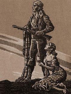 El bandido San y su mujer Camelia Blanca.