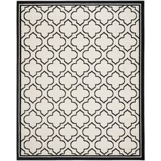 Mercer41 Currey Ivory/Anthracite Outdoor Area Rug Rug Size: