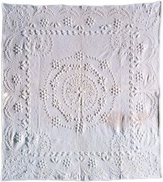 1810 whitework wholecloth quilt